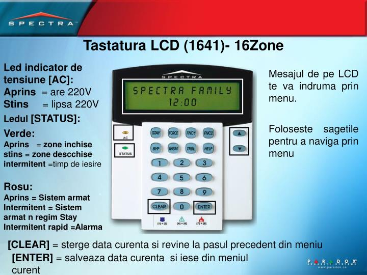 Tastatura LCD (1641)- 16Zone
