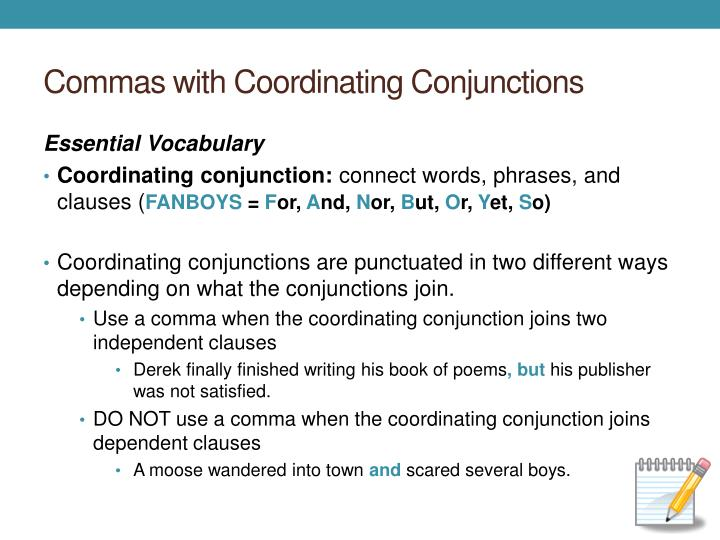 Commas with coordinating conjunctions