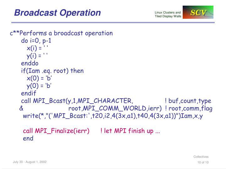 Broadcast Operation