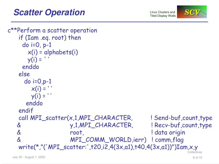 Scatter Operation