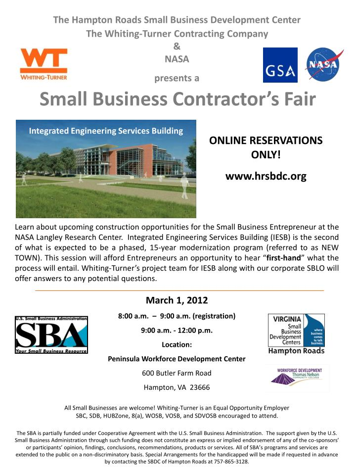 The Hampton Roads Small Business Development Center