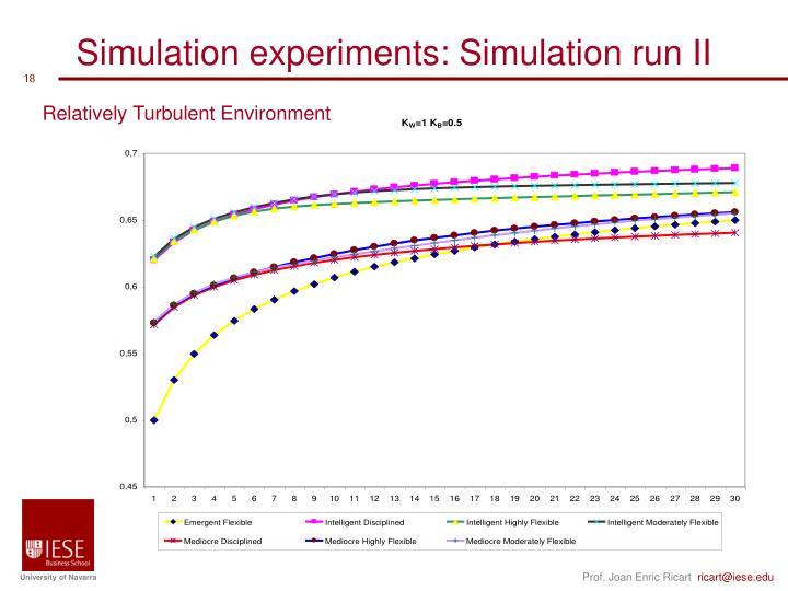 Simulation experiments: Simulation run II