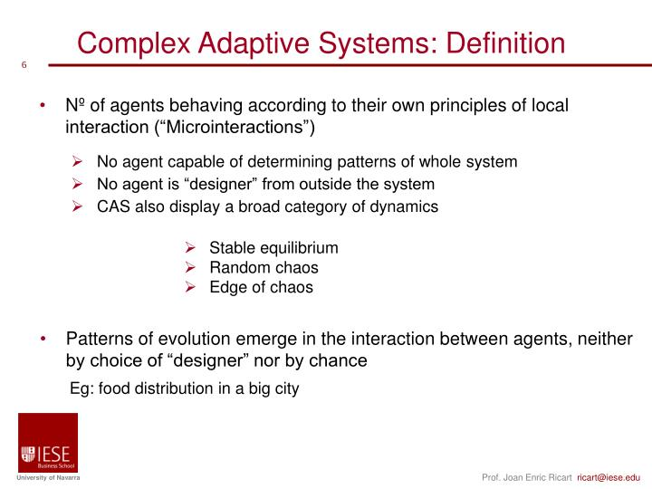 Complex Adaptive Systems: Definition