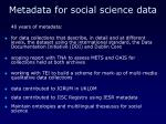 metadata for social science data