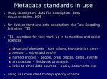 metadata standards in use