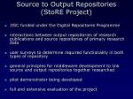 source to output repositories store project