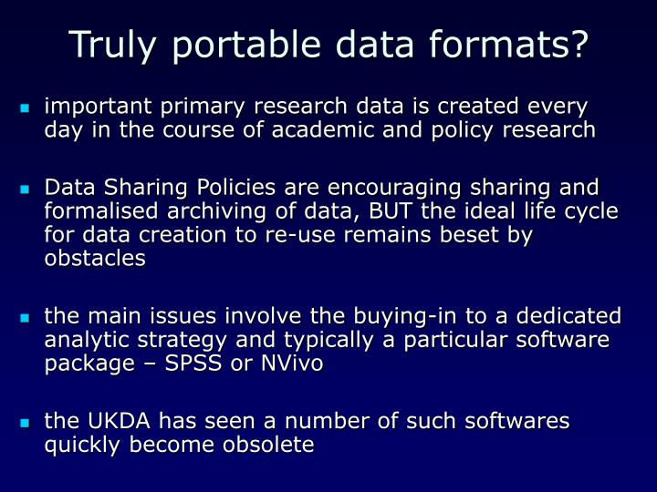 Truly portable data formats?