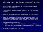 xml standard for data exchange curation