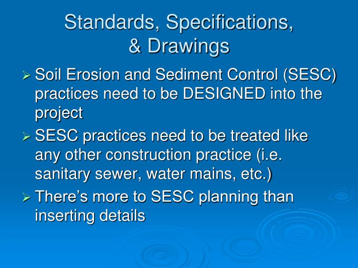 Standards, Specifications,