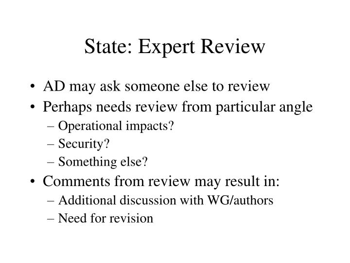 State: Expert Review