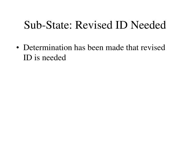 Sub-State: Revised ID Needed
