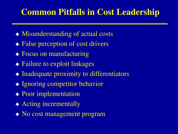 Common Pitfalls in Cost Leadership