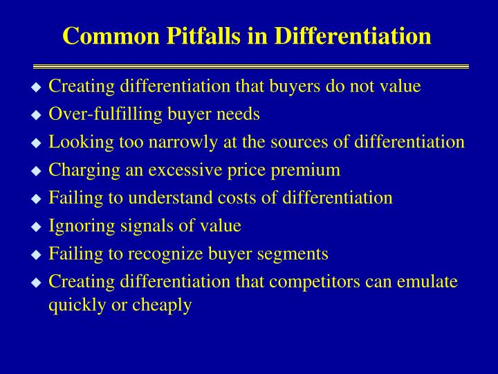 Common Pitfalls in Differentiation