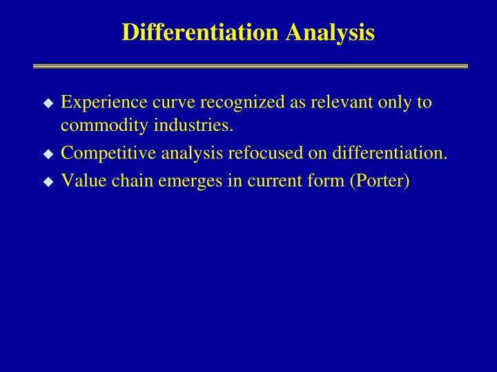Differentiation Analysis
