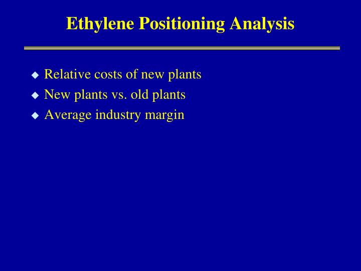 Ethylene Positioning Analysis