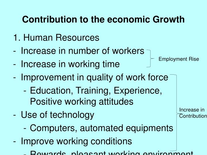 Contribution to the economic Growth
