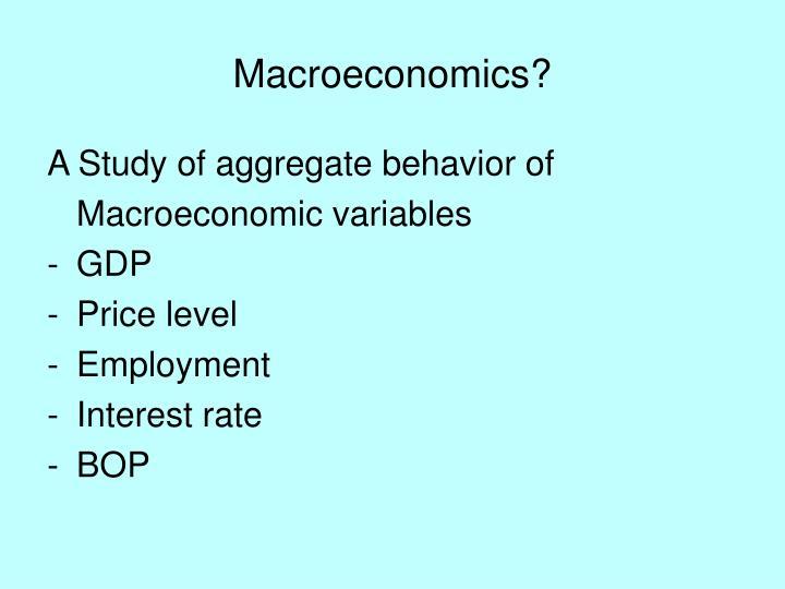 Macroeconomics?