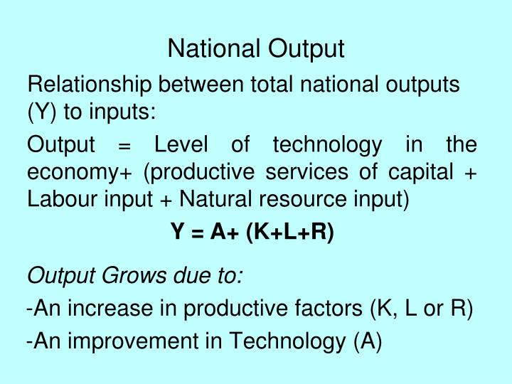 National Output