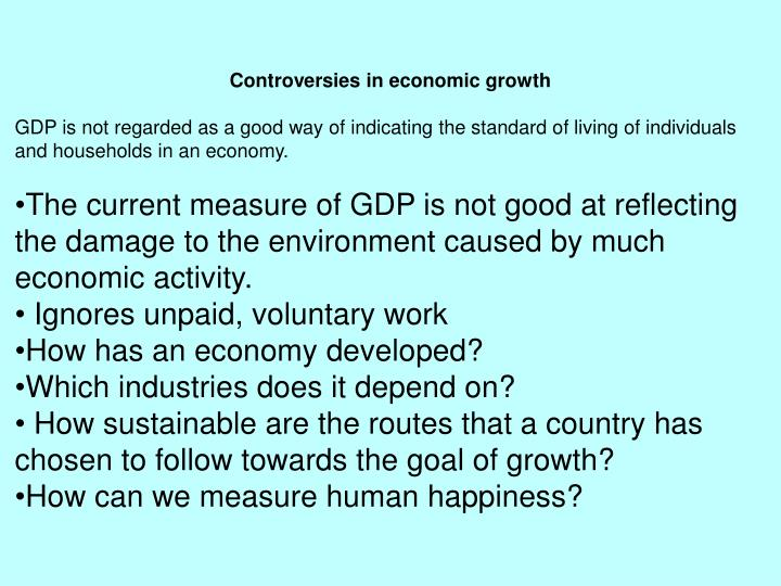 Controversies in economic growth