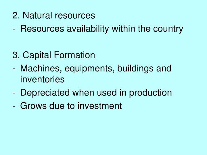 2. Natural resources
