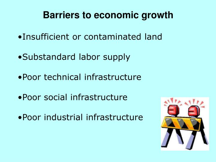 Barriers to economic growth