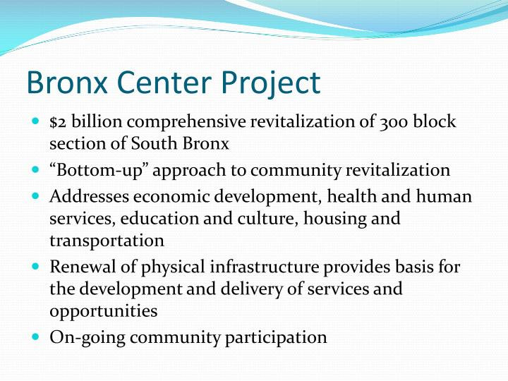 Bronx Center Project