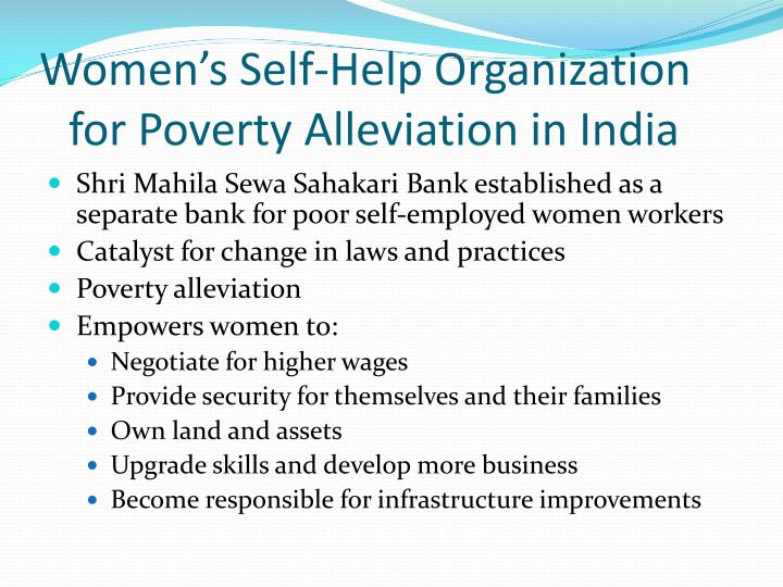 Women's Self-Help Organization for Poverty Alleviation in India