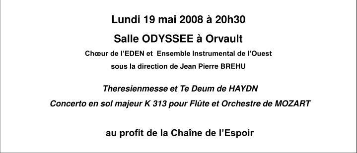 Lundi 19 mai 2008 à 20h30