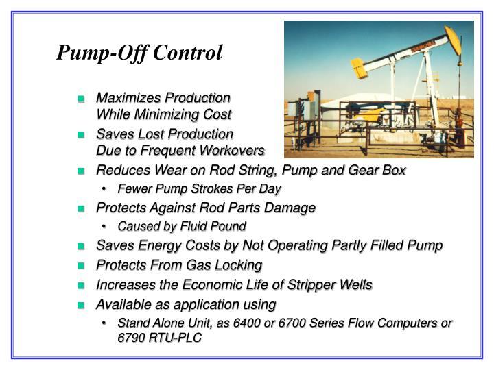 Pump-Off Control