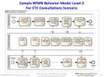sample bpmn behavior model level 2 for ctc consultations scenario