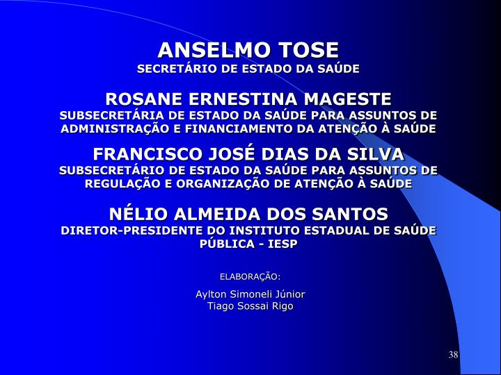 ANSELMO TOSE
