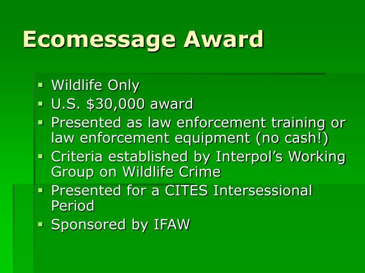 Ecomessage Award