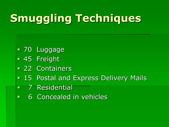 Smuggling Techniques
