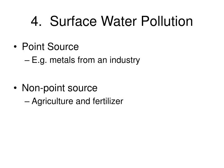 4.  Surface Water Pollution