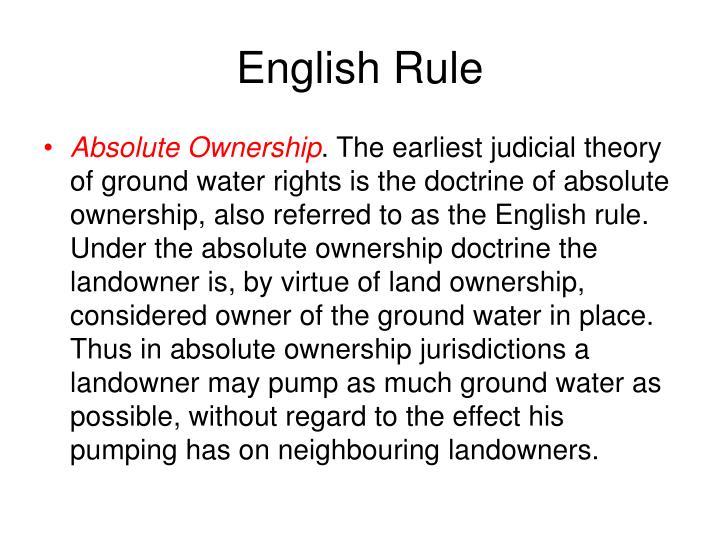 English Rule