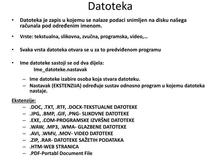 Datoteka
