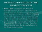 hearings outside of the protest process1