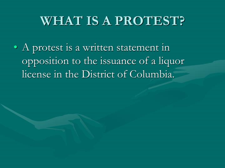 What is a protest