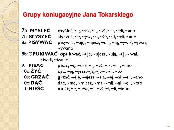 Grupy koniugacyjne Jana Tokarskiego