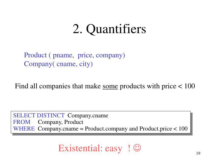 2. Quantifiers