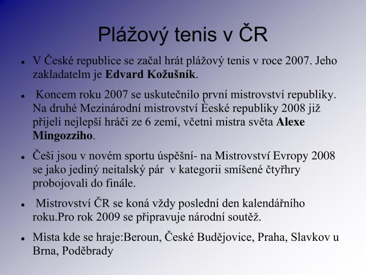 Plážový tenis v ČR