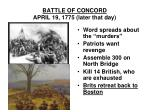 battle of concord april 19 1775 later that day