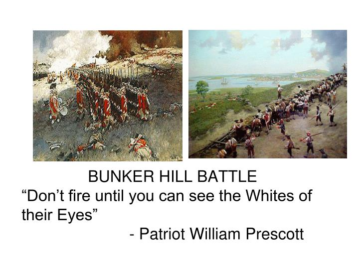 BUNKER HILL BATTLE