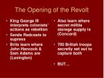 the opening of the revolt