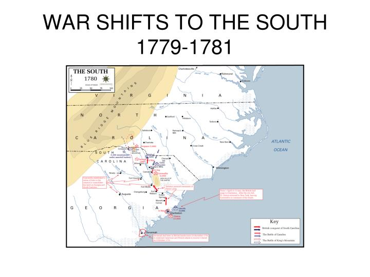 WAR SHIFTS TO THE SOUTH