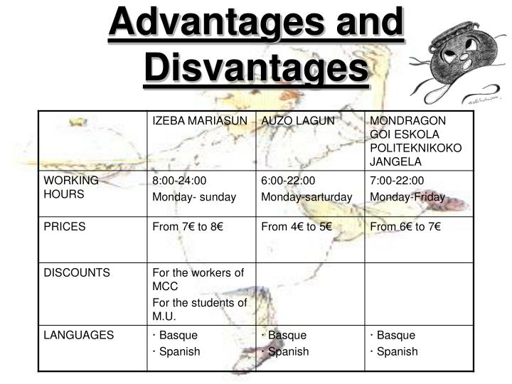 Advantages and Disvantages