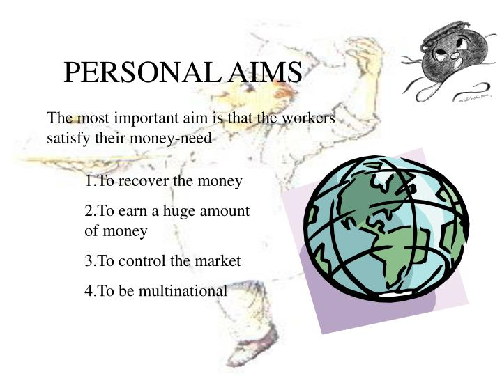 PERSONAL AIMS