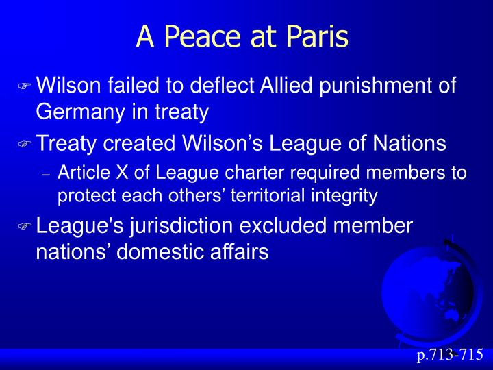 A Peace at Paris
