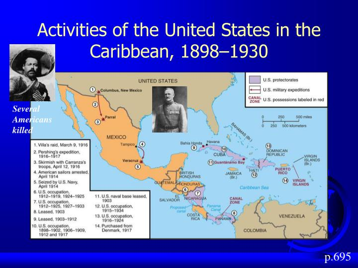 Activities of the United States in the Caribbean, 1898–1930