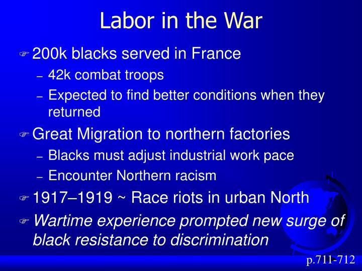 Labor in the War